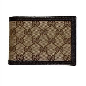 Gucci Canvas Leather Guccissima Wallet